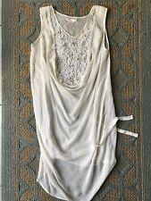 6d1e62cfff123 GOLD HAWK beige 100% Silk Embroidered Feminine Camisole Tank Top