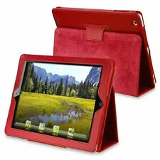Custodia In Pelle Con Supporto Compatibile Con Apple Ipad 2/3/4, Rosso C4V9