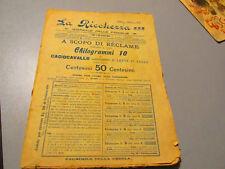 1901 LA RICCHEZZA Giornale delle famiglie catalogo offerte reclame