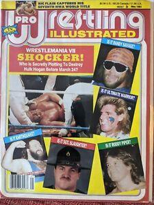 Pro Wrestling Illustrated May 1991 Magazine Wrestlemania VII Hulk Hogan WWF WCW