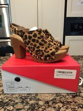 New Size 6.5 Faux Leopard Print Women's Wedges
