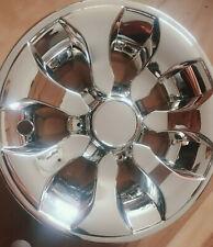 "Chrome 8"" Golf Cart Hub Caps - Ezgo, Club Car, Yamaha Set (4) New Wheel Covers"