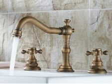 Vintage Widspread Bathroom Basin Sink Faucet Dual Cross Handles Mixer Tap Knf202
