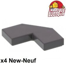 Lego 4x Tile Plate Smooth 2x2 Corner Corner Angle FACET Dark Grey 27263 New