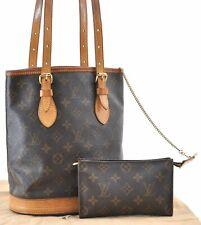 Authentic Louis Vuitton Monogram Bucket PM Shoulder Bag M42238 LV A6548