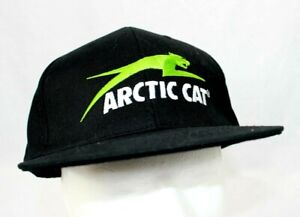 Arctic Cat Baseball Cap Trucker Hat Black Cotton Adjustable Snap Back