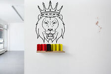 Wall Room Decor Vinyl Sticker Mural Decal Crown King Lion Animal Art Logo F2186