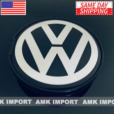 ONE Black Chrome VW Volkswagen Wheel Center Hub Cap Beetle Jetta Golf Polo 55MM