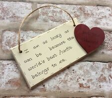 Auntie/aunty/uncle Christmas Gift - Personalised Handmade Wooden Plaque