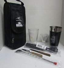 Bartender Shaker Set Cocktail Kit Stainless Steel Bar Mixer Tools With Tote Bag