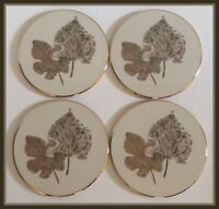 Lenox Burnished Leaves Collection Ceramic Coasters - Set Of 4 - NEW In Box
