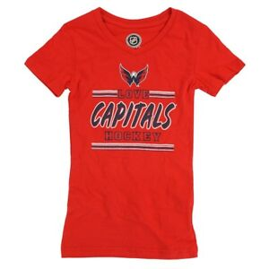 Washington Capitals Outerstuff NHL Girls Red V-Neck Short Sleeve T-Shirt