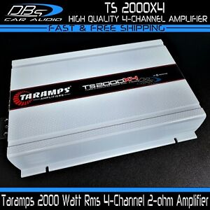 Taramps TS 2000X4 2000W Rms 4-Channel Car Amplifier Class D Fullrange Stereo Amp