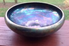 T&V Bowl Limoges France Very Unusual Iridescent Blues Greens Purple Golds Rare