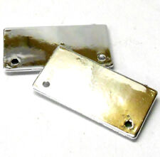 2320006 RC 1/10 Body Shell Cover Accessories Number Plate Chrome x 2