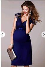 Tiffany rose designer maternity dress indigo blue size 2 10-12 RRP £169