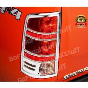 For GMC Sierra 1500 2007-08 09 10 11 12 2013 Chrome Tail LAMP Light Bezel COVER