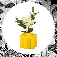 Orla Kiely Stem Vase Yellow- Petal Flower Small Floral Ceramic Wild & Wolf Retro
