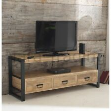 Harbour Indian Reclaimed Wood Furniture Large Television Cabinet Stand Unit