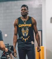 T'Challa #1 Killmonger #2 Black Panther WAKANDA Basketball Jersey Throwback