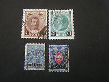 *RUSSIA, SCOTT # 110/111(2)+112/113(2),2 COMPLETE SETS 1916 SURCHARGED ISS USED