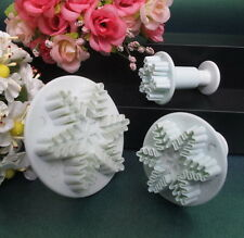 Set of 3 Snowflake Sugarcraft Cake Decorating Cutters/Plungers