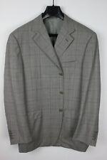"""CANALI """"Natural Comfort"""" Plaid Wool & Silk Blazer Sport Coat, Size 42R"""