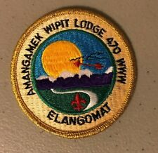 BSA, OA-  Amangamek Wipit 470 WWW - Elangomat patch, gold mylar trim, earned