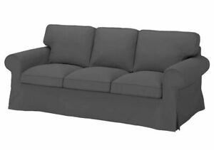 Ikea EKTORP Three Seat sofa Replacement COVER Set, Nordvalla dark grey,80322327