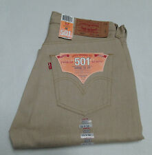 Levis 501 Button Fly Shrink-to-Fit  Straight Leg Jeans 33X34 NWT