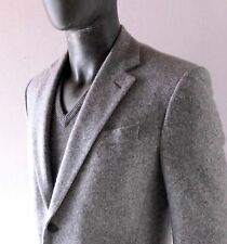 MASSIMO BIZZOCCHI Men's Grey Cashmere Blazer Sport Coat 40 R Brooklyn Bespoke