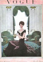 Vogue.Furniture.Decor.Art Deco.Fashion.Lady reading book.Vintage.Retro.Art