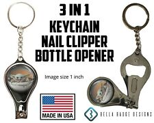 Baby Yoda Keychain Key Chain Nail Clippers Bottle Opener 3 in 1 Multifunction