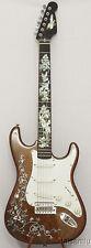 Electric Guitar,Burl(Bird's eye) maple& mahogany,MOP inlaid,QSEG04