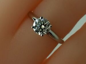 1.5Ct Moissanite Solitaire Engagement Ring 14k White Gold