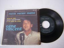 EP 4 TITRES VINYLE 45 T , GENE VINCENT , PISTOL PACKIN ' MAMA . VG  / VG + .