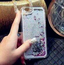 Bling Glitter Liquid Clear Hard Back Case Cover Skin For iPhone 4S 5 6 6S 7 Plus