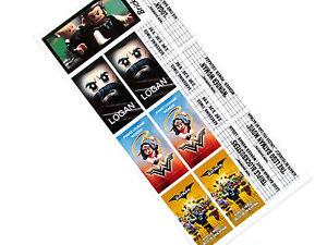 STICKERS for LEGO 10232 cinema 10184 , Logan , Wonder Woman , Lego Batman movie