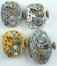 Lot of 4 Ladies Hamilton Wristwatch Movements For Parts / Repair.