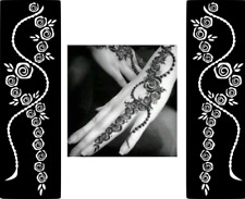 Tatuagem Temporária Popular #Henna o Mehndi Glitter estêncil Adesivo Vinil de arte no corpo