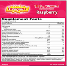 Emergen-C 10 Packets X 0.32 oz Vitamin C 1,000 mg. Raspberry Flavor Exp 06/21
