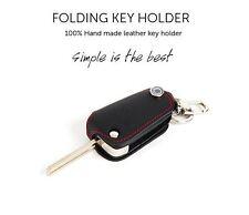 Red Stitch Folding Key Leather Holder Case Kia Forte Cerato Koup 2009 2012