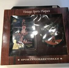 Vintage Sports Plaques Michael Jordan Clock with Basketball Card