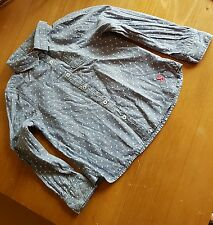 Pretty JOULES 'Jnr Dominie' Blue Chambray Spot Blouse, Age 4 Years