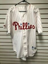 1992 Mel Roberts Philadelphia Phillies Game Worn Home Jersey NICE Russell Ath