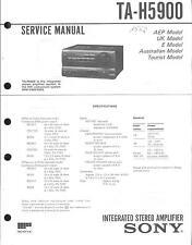 Sony Original Service Manual für TA-H5900