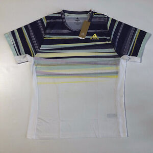 Adidas Men's Freelift Tee H.HRDY SS T-Shirt Tennis White/Shock Yellow Sz XL