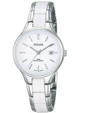 Pulsar Ladies White Ceramic & Stainless Steel Watch - PH7267X1-PNP