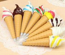 Cool Ice Cream Cone Creative Ballpoint Ball Pen Fridge Sticker Magnet for Kids