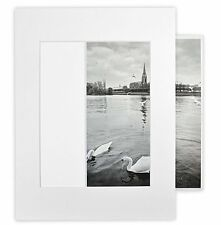Pack of 10 White 11x14 Self-assemble Photo Mat for 8x10 picture